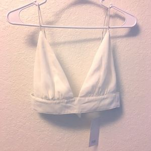 Tobi S New with Tags White Crop Top